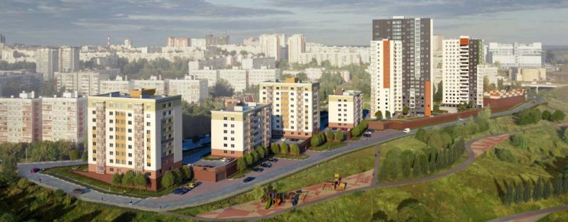 ЖК Солнечный. Нижний Новгород. ул. Касьянова.Рендер