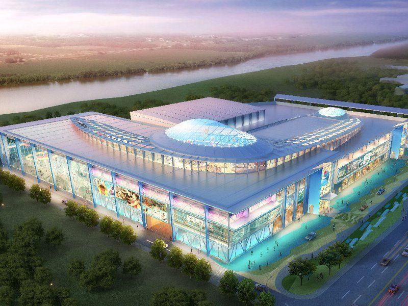 Рендер. Строительство аквапарка на пр. Гагарина. ЖК Зенит