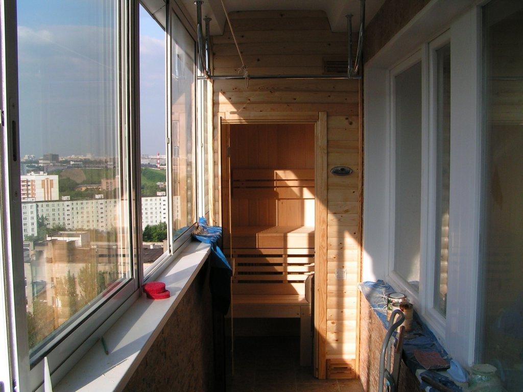 sauna na balkone